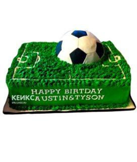 Торт футбольное поле без мастики