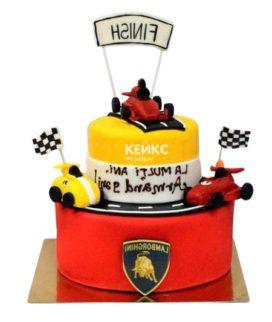 Торт гоночная машина-5