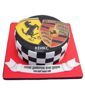 Торт гоночная машина-6