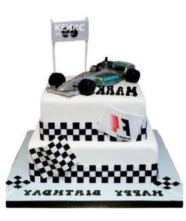 Торт гоночная машина-9