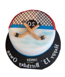 Торт хоккейное поле-1