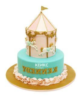 Торт карусель-9