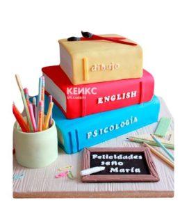 Торт книга учителю