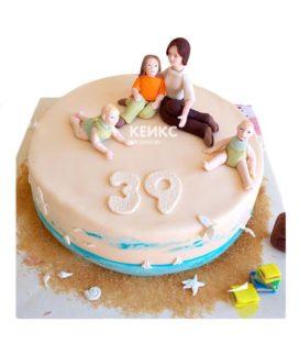 Торт маме и жене