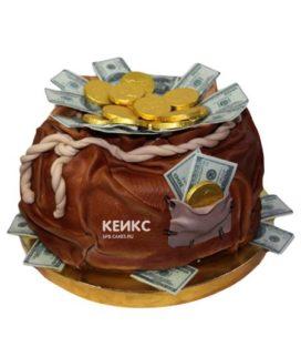 Торт мешок денег 1