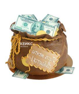 Торт мешок денег 2