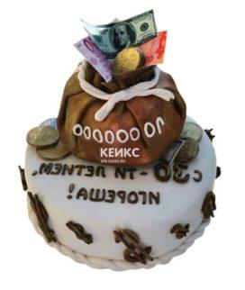 Торт мешок денег 3