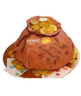 Торт мешок денег 5