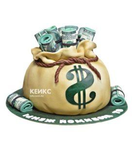 Торт мешок денег 7