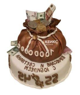 Торт мешок денег 8