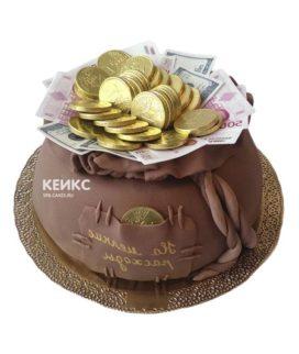Торт мешок денег 9