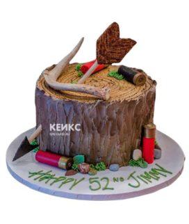 Торт охота без мастики