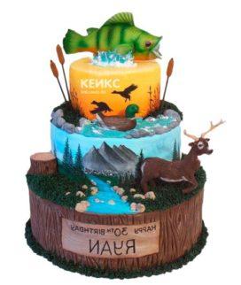 Торт охота и рыбалка-4
