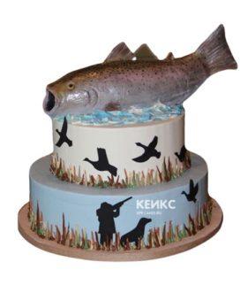 Торт охота и рыбалка-6