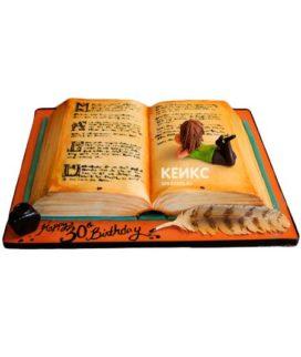 Торт открытая книга 9