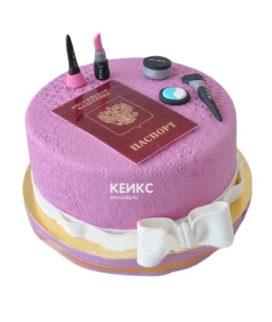 Торт паспорт для девочки 3