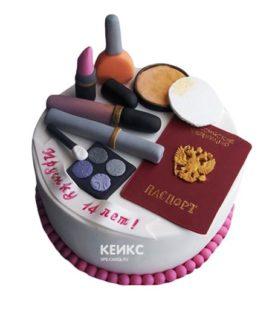 Торт паспорт для девочки 4