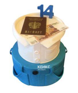 Торт паспорт для мальчика 5