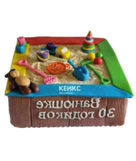 Торт песочница для мужчины-1