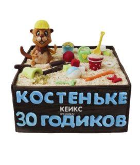 Торт песочница для мужчины