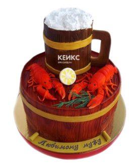 Торт пиво с раками-6