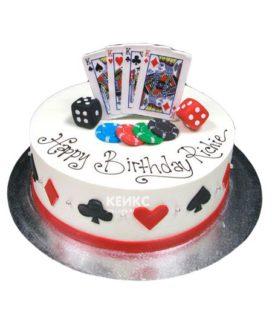 Торт покер-4