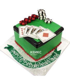 Торт покер-6
