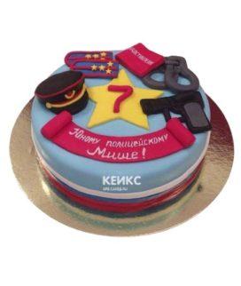 Торт полицейская фуражка-2