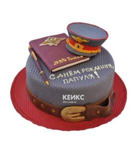 Торт полицейская фуражка-3