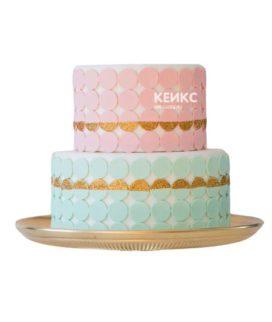 Торт розово голубой 1