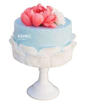Торт розово голубой 2