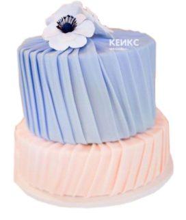 Торт розово голубой 3