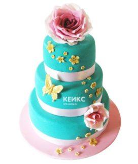 Торт розово голубой 5