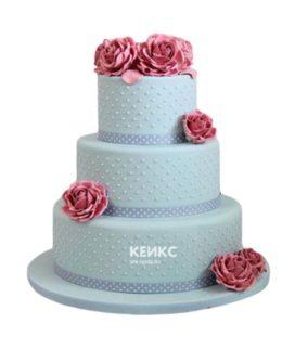 Торт розово голубой 6