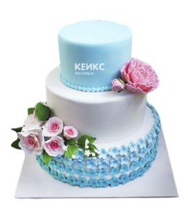 Торт розово голубой 7