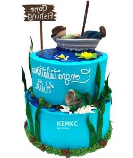 Торт рыбалка-20