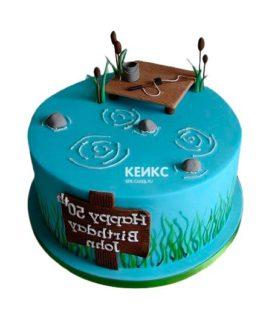 Торт рыбалка-22