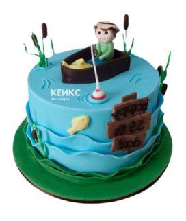 Торт рыбалка-8