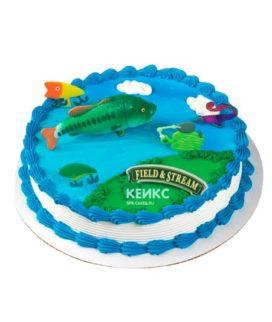 Торт рыбалка без мастики 1