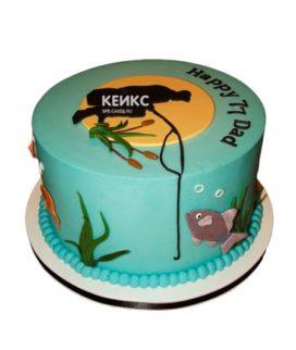 Торт рыбалка без мастики 11