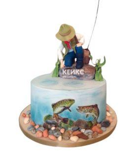 Торт рыбалка без мастики 12