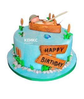 Торт рыбалка без мастики 13