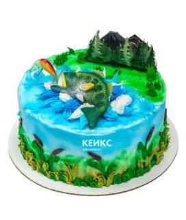 Торт рыбалка без мастики 14