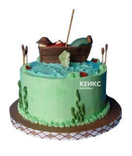 Торт рыбалка без мастики 3
