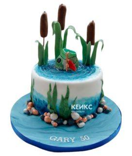 Торт рыбалка без мастики 4