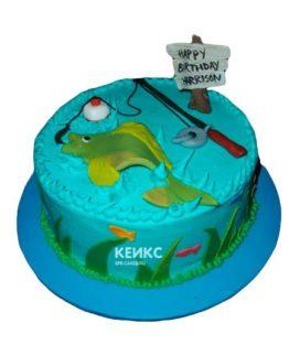 Торт рыбалка без мастики 5