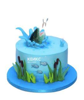 Торт рыбалка без мастики 6