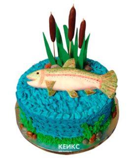 Торт рыбалка без мастики 7