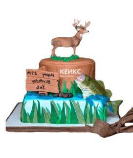 Торт рыбалка и охота-5