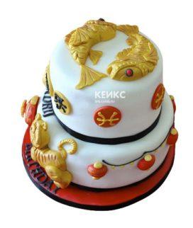 Торт рыбы-5